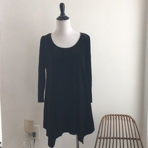 aDressing WONAN black velvet flowy 3/4 sleeves M